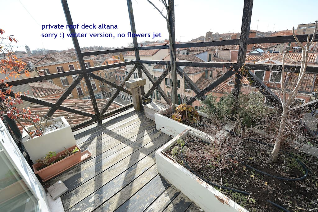 private roof deck altana - SORRY :) WINTER VERSION, NO FLOWERS JET