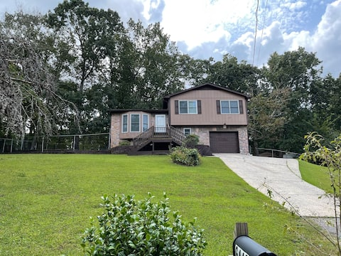3 bedroom home including fire pit and fenced yard