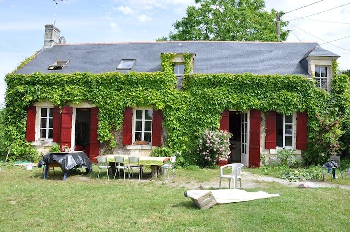 Maison et musique en bord de Loire