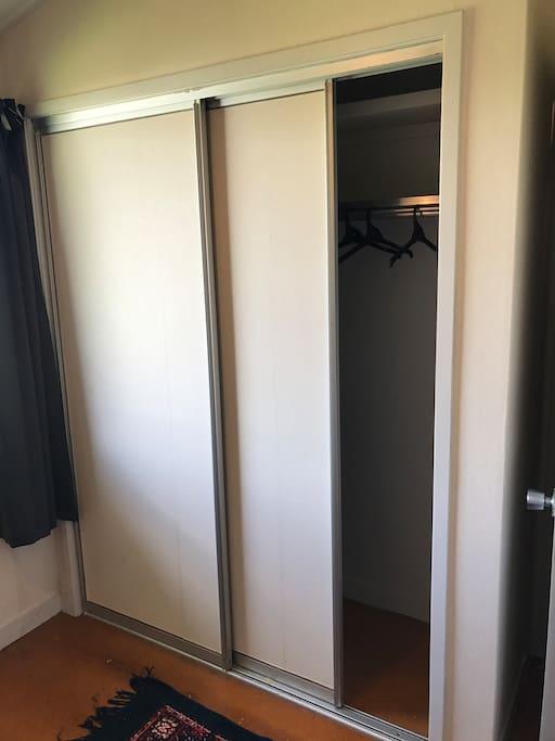 Double door closet.