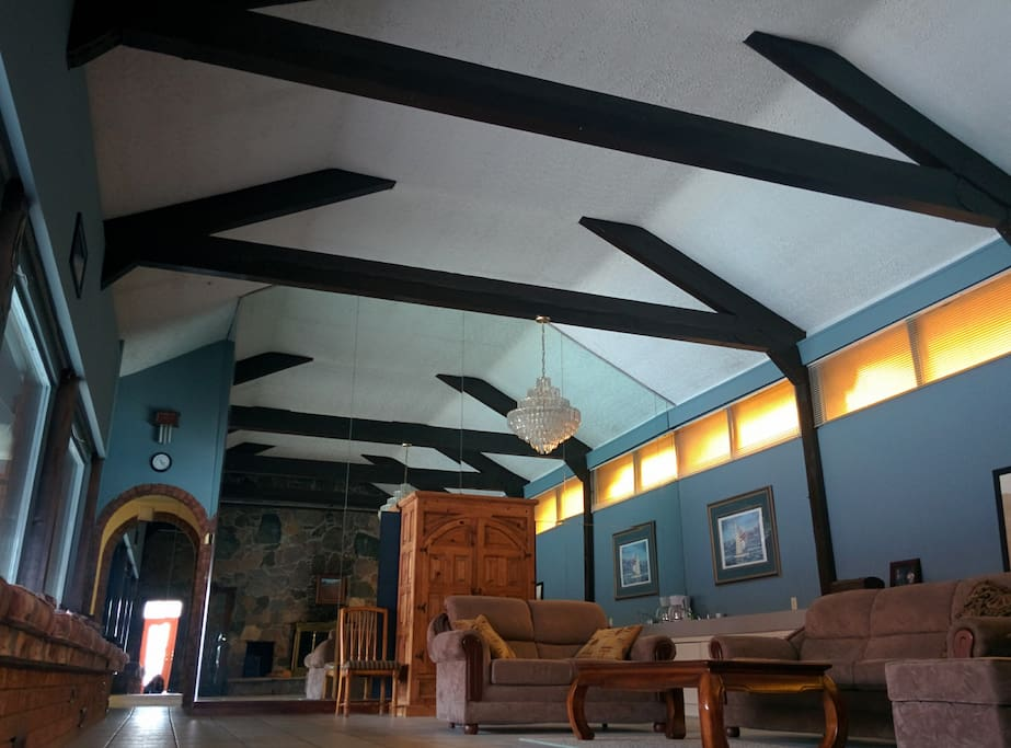 Great Hall 700 sq.ft. Beamed 15 ft. ceiling. Built in 1885.