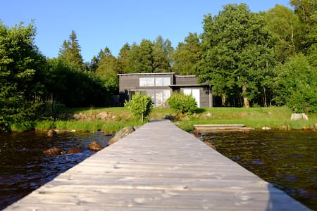 Summer house - private beach - including boat - Ljungby V - Blockhütte