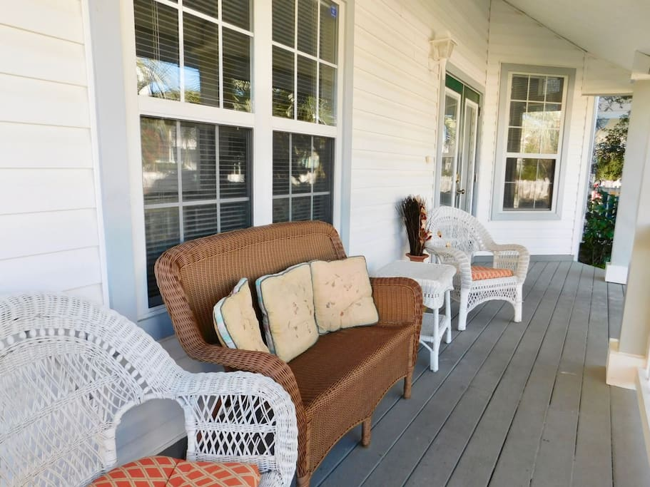 Front Porch w/ Seating Area
