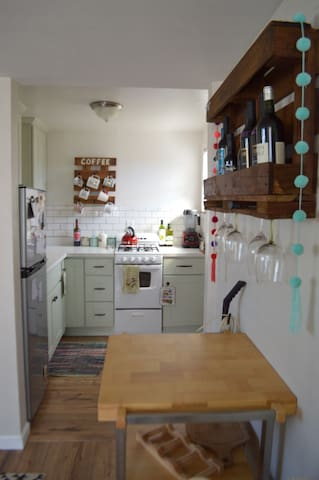 Cozy studio home with cute kitchen