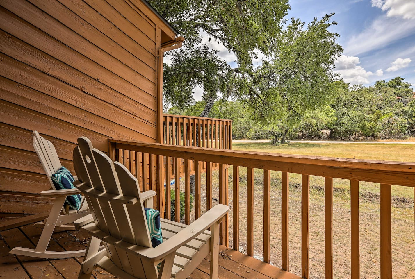 Enjoy picturesque creek views from the deck of this 1-bedroom, 2-bathroom condo.