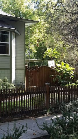 gate leading to lower half of home