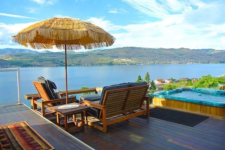Enjoy this 180* Spectacular view of Lake Chelan!