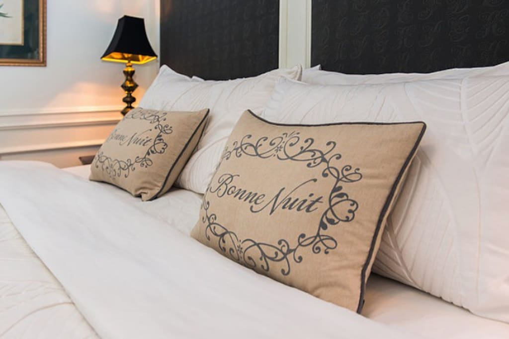 Our beds are very comfortable and feature fresh white linen