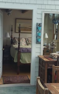 Relax! Beachfront 1BR + suite/shared bath, deck... - Vineyard Haven