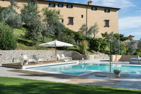 15° Century Villa of Medici Family, amazing pool - Poggetto - Castle