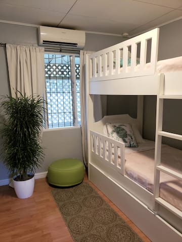 Our third room comes with a bunk bed.