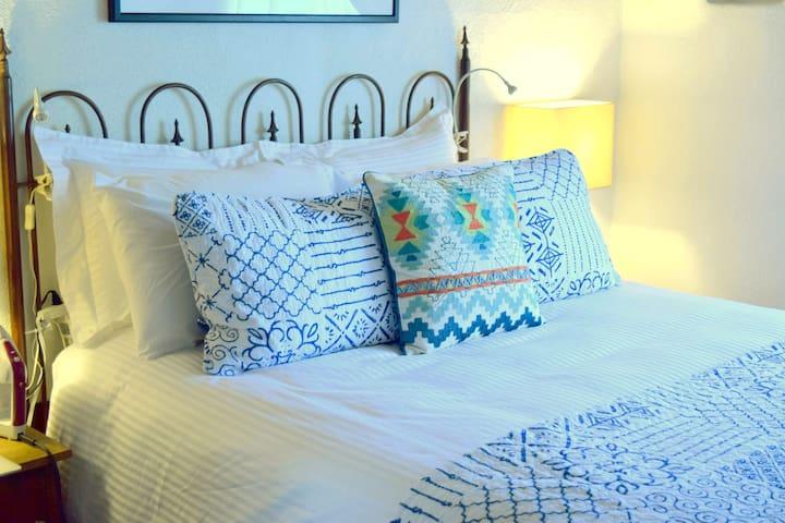Queen pillow-top bed