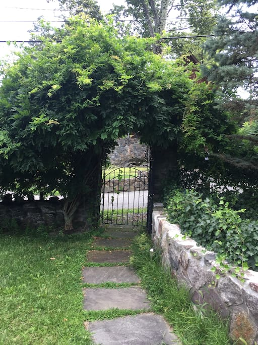 Front gate from inside the yard