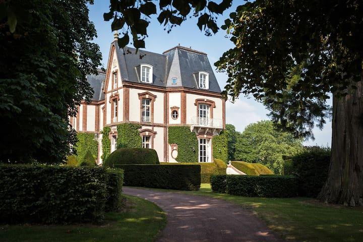 Chambre de Jade BNB Château - Bouelles - Wikt i opierunek