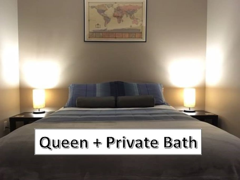 Queen room bathroom bungalows for rent in calgary for Best private dining rooms calgary