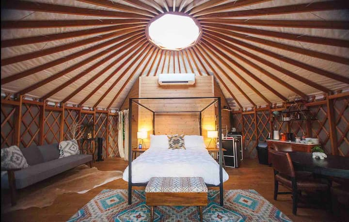 ✺ Yurt In The Trees, SOCIAL DISTANCING HAVEN :) ✺