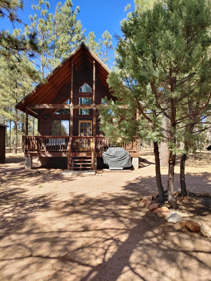 Private 2 bedroom loft cabin with a huge backyard