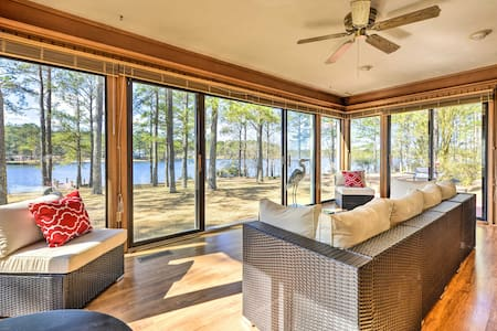 Breezy Lakefront Home on Golf Course w/Deck & Dock