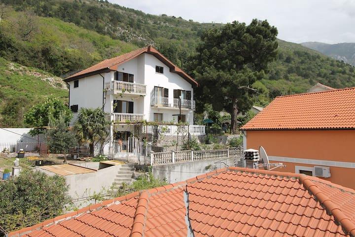 Scenic three story villa overlooking Boka bay