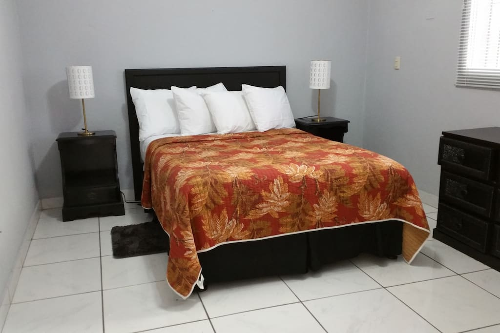 Main room with 1 Queen bed