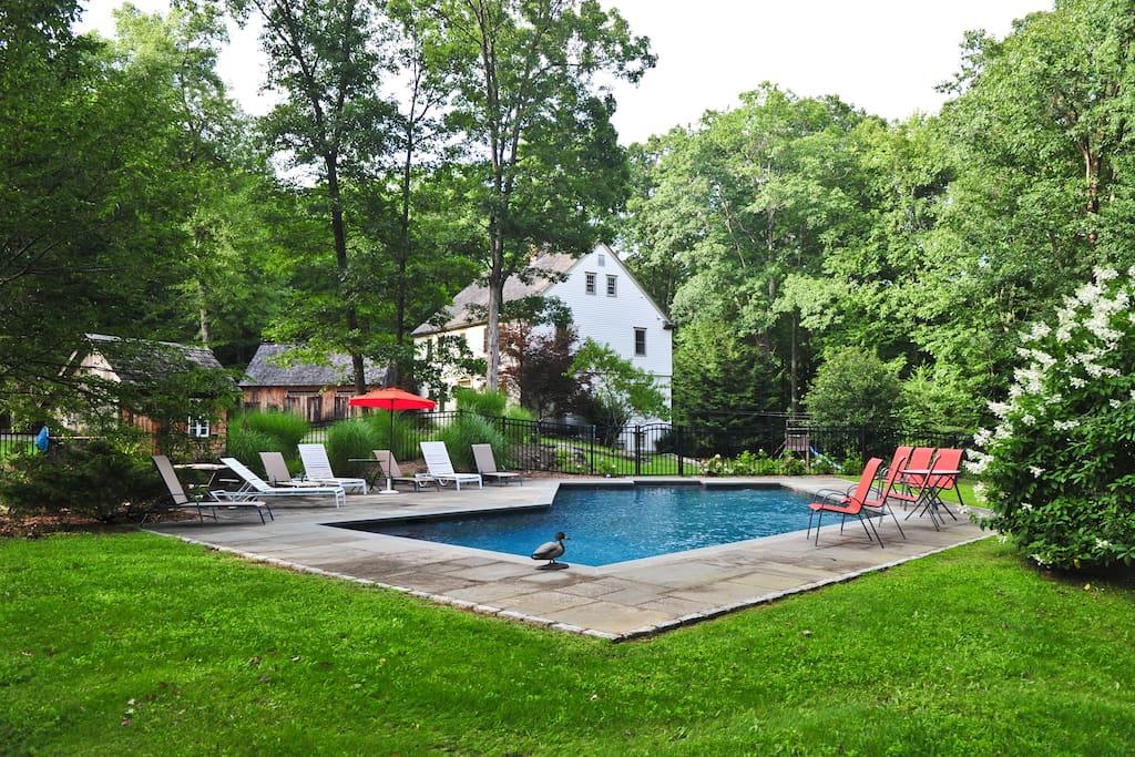 Heated Gunite Pool, Dining Terrace, Propane BBQ