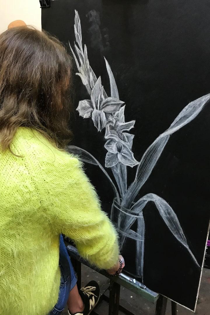 Monochrome Gladiolus