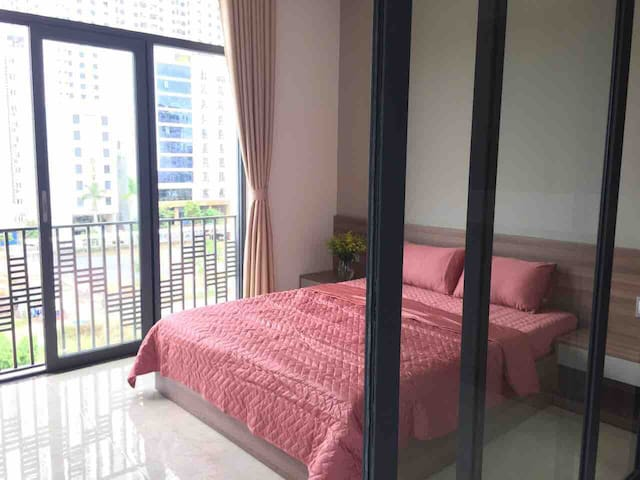 1. Bedroom with king size bed, you can view the sea