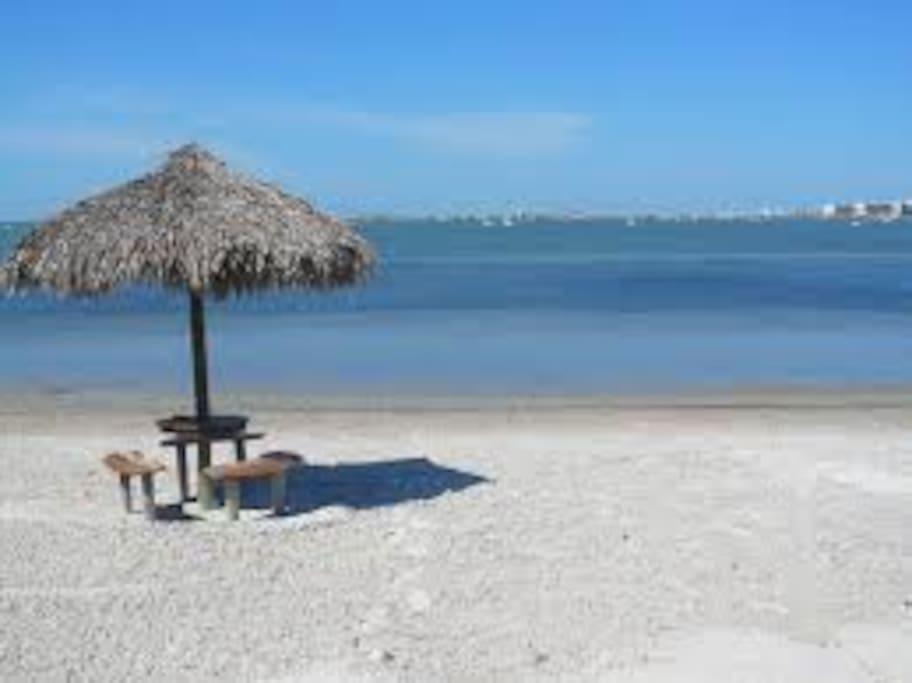 Private Bay Beach Tiki Hut