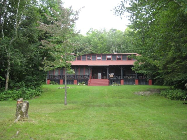 Classic Lakefront Adirondack Lodge