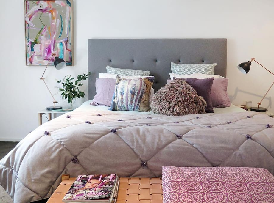 The home is styled with amazing prints/quilts/cushions/throws and homewares.  An ultimately stylish home.
