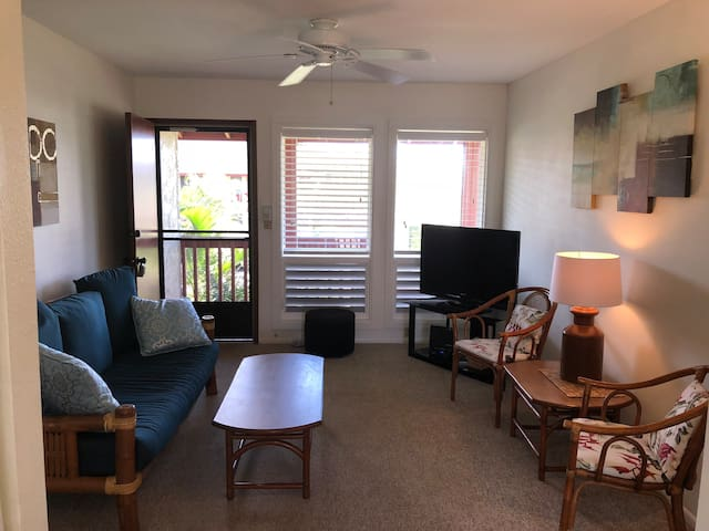 2 bed/1.5 bath condo with Oceanview in Kapaa