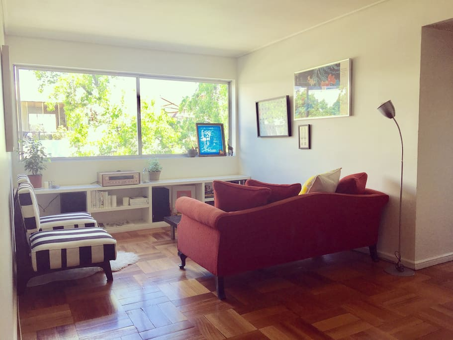 Our bright living room