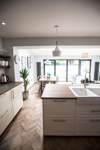 Scandi style open plan living