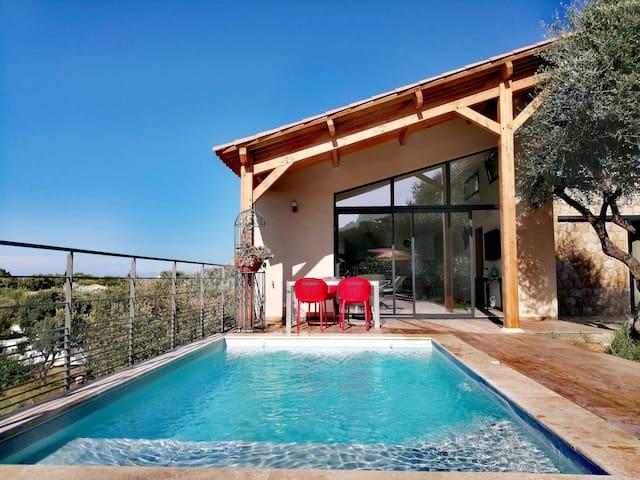 Casa di l'Alivu, duplex avec piscine, vue mer