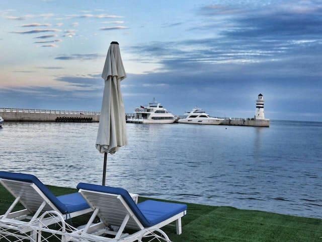 山海同湾、地中海式休闲度假、可观海公寓 - Huludao Shi - Apartament