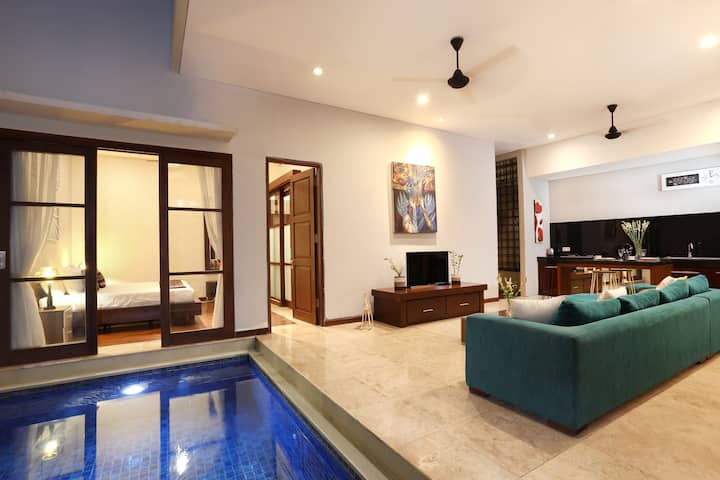 1-2BR Cozy Strategic Villa, private pool, Seminyak
