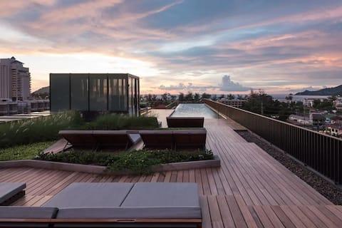 Pool med 1 soveværelse og tag på Patong Beach #D99