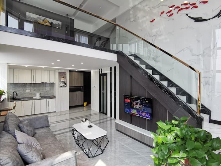 现代轻奢Loft复式江景阳光公寓
