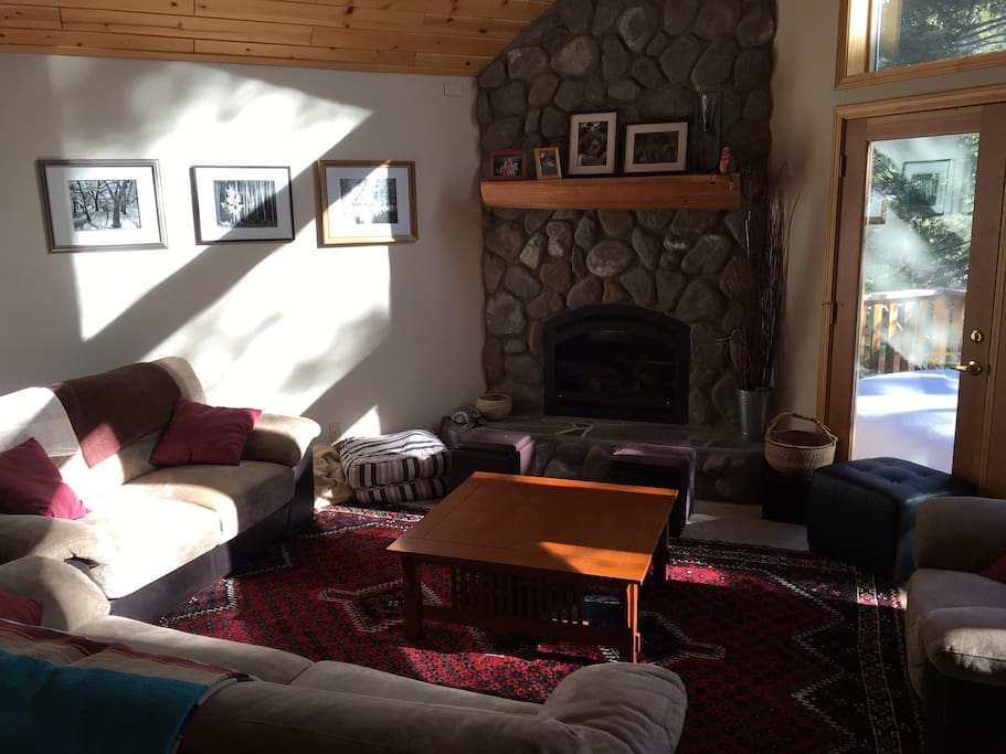 Heinrichs Cabin-Living Room and Stone Hearth