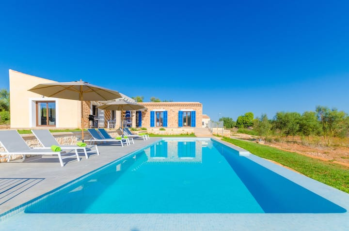 BONA VISTA - Villa with private pool in Felanitx. Free WiFi