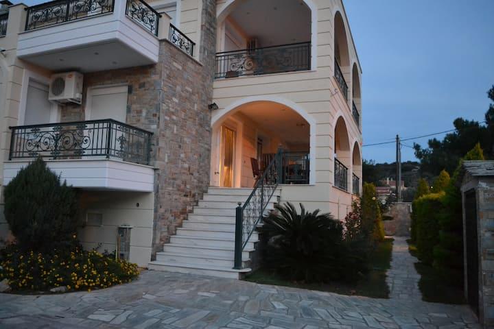 Unique Villa in front of the Sea / Villa Kritharia