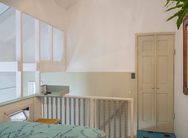 private upstairs bedroom