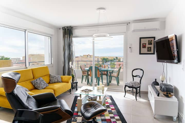 SB 402 - Fantastic 2 Bedroom-flat with sea view! NARBONNE-PLAGE