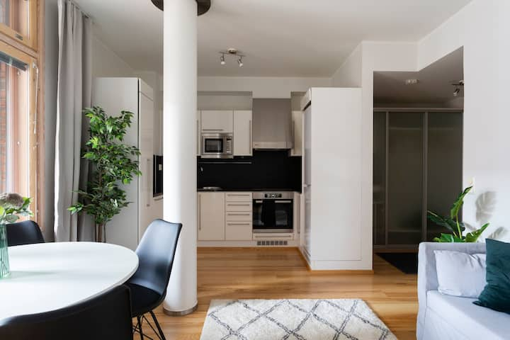 Stylish 1BR apartment in Kamppi Center with Sauna