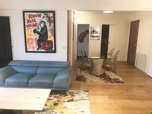 Living room with large table