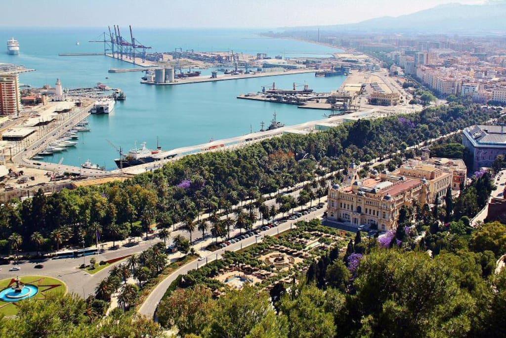 Málaga desde el Castillo