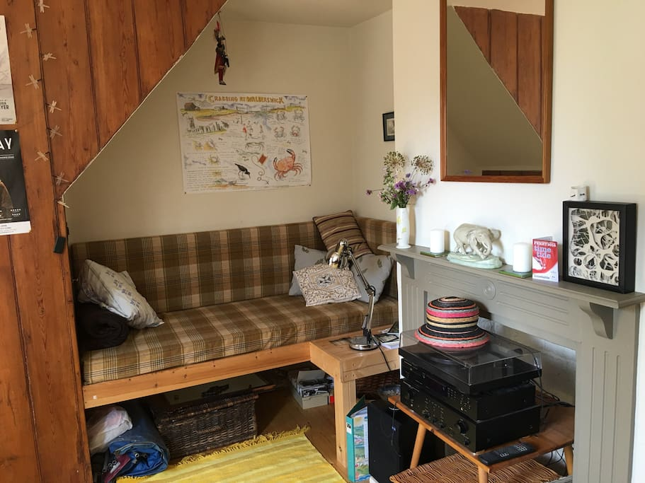 Under stair bed space / cosy nook
