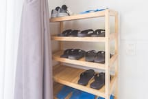 Shoe rack. Please put your shoes/slippers here upon entry to the house!