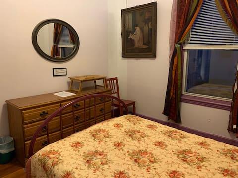Bedroom w shared kitchen, bathroom & living room