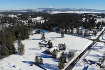 Winter views of our acreage